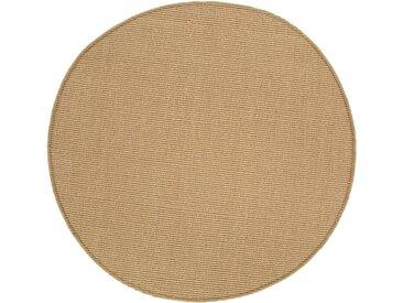 Andiamo Sisalteppich »Sisal«, rund, Höhe 5 mm, Flachgewebe, Obermaterial: 100% Sisal
