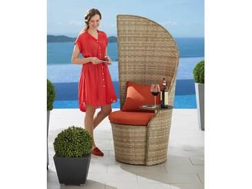 Leco LECO Gartenstuhl »Business«, Polyrattan, natur, inkl. Sitzkissen, natur, 1 Stuhl, natur