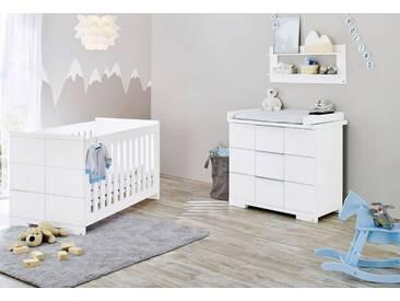 Pinolino® Pinolino Babyzimmer-Set (2-tlg.), Sparset, »Polar breit«, weiß, weiß