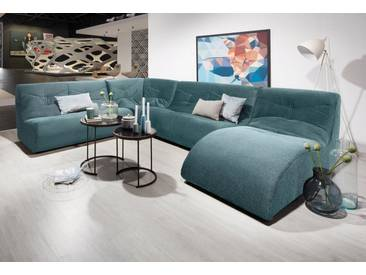 DOMO collection Wohnlandschaft, mit Relaxelement, grün, 339 cm, Relaxelement rechts, türkis