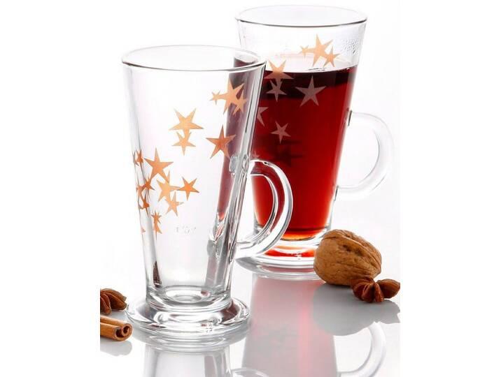 Ritzenhoff & Breker Glühweinbecher auf Fuß, (2tlg.), Glas, mit Sternenmotiv