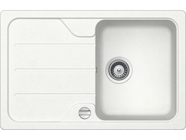 Schock SCHOCK Granitspüle »Formhaus Mini«, ohne Restebecken, 78 x 50 cm, weiß, ohne Restebecken, weiß