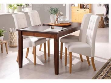 Home affaire Tisch, braun, Ansteckplatten, ohne Schublade, Breite 140 cm, kolonialfarben