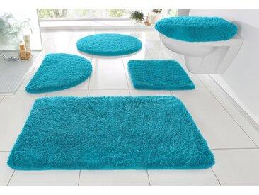 my home Badematte »Sanremo« , Höhe 30 mm, Besonders weich durch Microfaser, blau, 30 mm, aqua