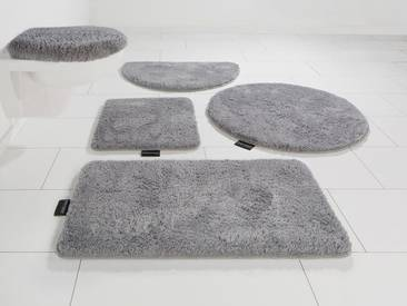 Bruno Banani Badematte »Lana« , Höhe 25 mm, rutschhemmend beschichtet, fußbodenheizungsgeeignet, silberfarben, 25 mm, aluminium