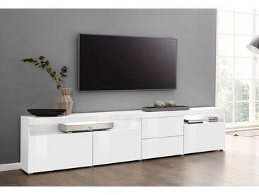 borchardt Möbel Borchardt Möbel Lowboard »Kapstadt«, Breite 200 cm mit 2 Schubkästen, weiß, weiß Hochglanz/weiß Hochglanz