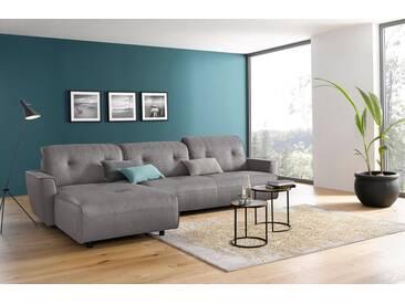 Hülsta Sofa hülsta sofa Polsterecke groß »hs.400« mit Rückenverstellung, grau, Recamiere links, lichtgrau
