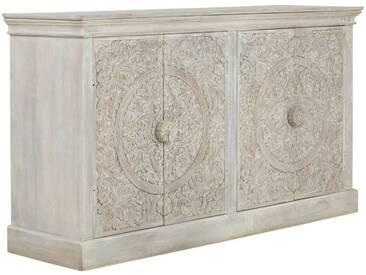 massivum Sideboard aus Mango massiv »Aroyo«, weiß, 156x89x45cm, weiß