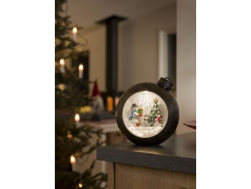 KONSTSMIDE Konstsmide LED Weihnachtskugel mit Schneemänner, braun, Lichtquelle Warm Weiß, Braun