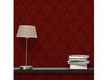 Bilderwelten Vliestapete Quadrat »Roter Französischer Barock«, rot, 336x336 cm, Rot