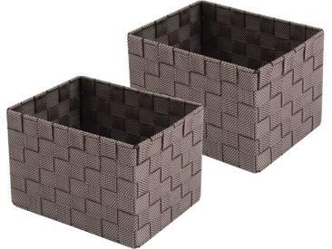 Franz Müller Flechtwaren Aufbewahrungsbox (Set, 2 Stück), braun, 23x18x15,5 cm, brown sugar