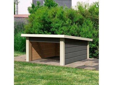 Karibu KARIBU Mähroboter-Garage terragrau, BxT: 79x96 cm, grau, grau