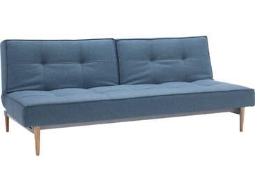INNOVATION™ Schlafsofa »Splitback« mit hellen Styletto Beinen, in skandinavischen Design, blau, lightblue