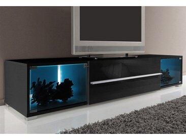 TV-Board »Aqua«, Breite 141 cm oder 161 cm, schwarz, schwarz-schwarz