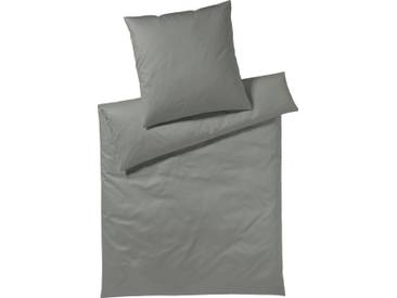 Yes for Bed Bettwäsche »Pure & Simple Uni«, aus hochwertigem Mako-Satin, grau, 1x 200x200 cm, Mako-Satin, graphit