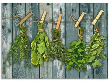Artland Küchenrückwände »Team 5: Kräuter mit Holzoptik«, grün, 50x70 cm, Grün