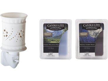 Candle-lite™ Duftlampe »Lexie« (Set, Nachtlicht inklusive 2x Duftwachswürfel), Elektronisches Duftlampen-Set, weiß, weiß