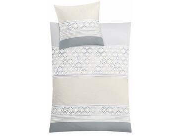 Kleine Wolke Bettwäsche »Sueno«, mit Muster, braun, 1x 135x200 cm, Mako-Satin, taupe