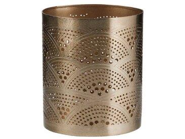 BUTLERS ARABIAN NIGHTS »Teelichthalter Wellen Höhe 13 cm«, goldfarben, gold