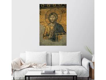 Posterlounge Wandbild - Tim Laman »Ein Mosaik von Jesus Christus in der Hagia So...«, grau, Acrylglas, 100 x 150 cm, grau