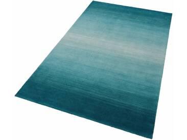 THEKO Teppich »Wool Comfort«, rechteckig, Höhe 15 mm, Wolle, grün, 15 mm, türkis