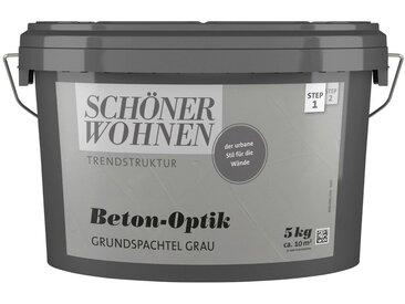 SCHÖNER WOHNEN-Kollektion SCHÖNER WOHNEN FARBE Spachtelmasse »Betonoptik Grundspachtel grau«, 5 kg, grau, grau