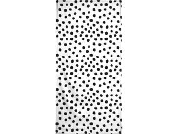 Juniqe Handtuch »Dots Black And White«, Weiche Frottee-Veloursqualität, weiß, Frotteevelours, schwarz-weiß-gelb
