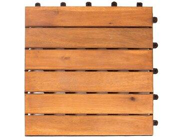 VANAGE Vanage Holzfliesen 9-er Kachel Set | Terrassenfliesen | Classic braun, braun, braun