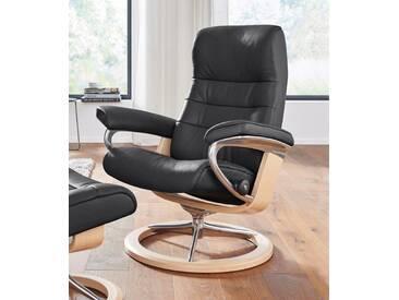 Stressless® Relaxsessel »Opal« mit Signature Base, Größe L, mit Schlaffunktion, schwarz, Fuß naturfarben, black