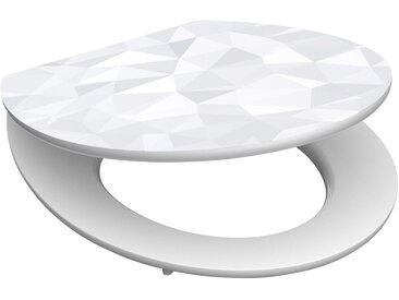 Schütte SCHÜTTE WC-Sitz »Diamond«, mit Absenkautomatik, weiß/grau