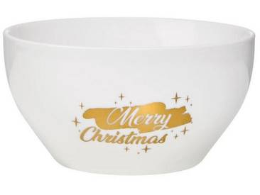 BUTLERS WHITE XMAS »Schale Merry Christmas 600 ml«, goldfarben, weiss-gold
