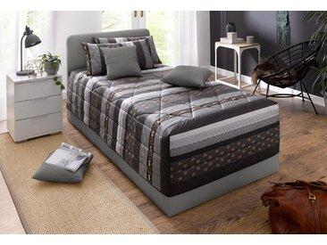 Westfalia Schlafkomfort Polsterbett, grau, ohne Matratze Bettgestell, Rahmenhöhe 42 cm, dunkelgrau
