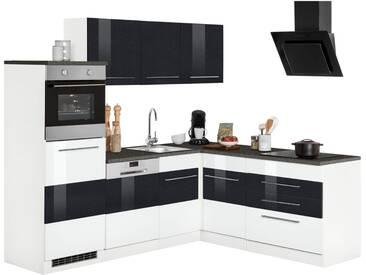 HELD MÖBEL Winkelküche ohne E-Geräte »Trient«, Breite 230/190 cm, weiß, weiß Hochglanz-anthrazit Hochglanz