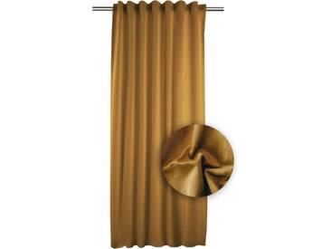 APELT Vorhang »TASSILO«, Smokband (1 Stück), Tassoli, Fertigschal mit Universalband, braun, Smokband, blickdicht, braun