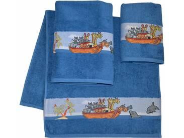 Dyckhoff Handtuch Set, »Arche«, mit schöner Bordüre und Schiffs Motive, blau, 3tlg.-Set (siehe Artikeltext), blau