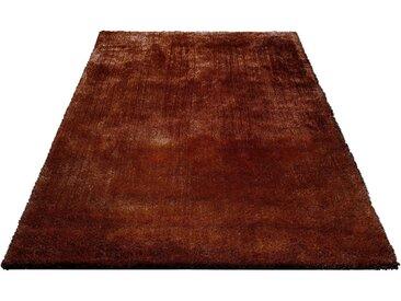 Bruno Banani Hochflor-Teppich »Dana«, rechteckig, Höhe 30 mm, Besonders weich durch Microfaser, braun, rostbraun