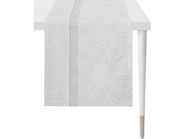 APELT Tischläufer »1304 Loft Style, Jacquard« (1-tlg), grau, grau-weiß