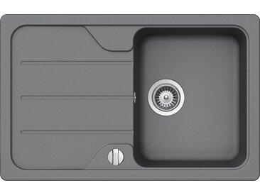 Schock SCHOCK Granitspüle »Formhaus Mini«, ohne Restebecken, 78 x 50 cm, grau, ohne Restebecken, grau