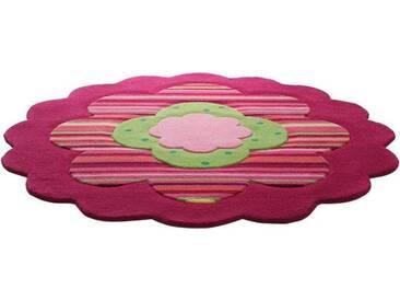Esprit Kinderteppich »Flower Shape«, rund, Höhe 10 mm, Motivform, rosa, 10 mm, rosa