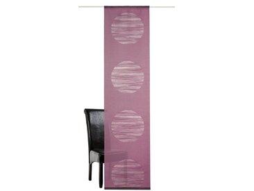 DEKO TRENDS Schiebegardine »Padova«, Klettband (1 Stück), ohne Befestigungszubehör, rot, Klettband, halbtransparent, beere