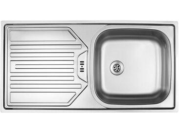 OPTIFIT Optifit Küchen Edelstahl-Einbauspüle, 86x43,5 cm, silberfarben, ohne Restebecken, edelstahl