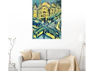 Posterlounge Wandbild - Ernst Ludwig Kirchner »Nollendorfplatz«, bunt, Leinwandbild, 90 x 120 cm, bunt