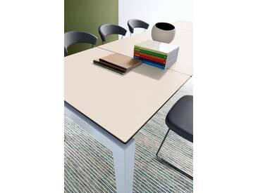 connubia by calligaris Tisch mit Tischplatte aus Keramik »Airport CB/4011«, weiß, Metall satiniert, Keramik weiß