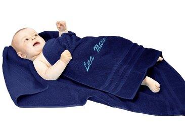 Lashuma Handtuch »London«, Kinderhandtuch Bestickt 100x100 cm, Personalisiertes Baby Strandtuch mit Name, blau, marine
