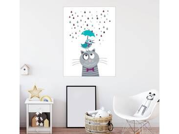 Posterlounge Wandbild - Jaysanstudio »Lustige Regentage«, weiß, Poster, 60 x 80 cm, weiß