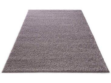 Bruno Banani Hochflor-Teppich »Shaggy Soft«, rechteckig, Höhe 30 mm, blau, mauve