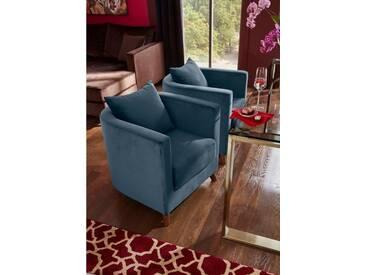 Guido Maria Kretschmer Home&Living GMK Home & Living GMK Speise-Sessel »Vaals« inklusive gemütlichen Rückenkissen mit Logostickerei, grün, petrol