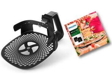 Philips Backeinsatz HD9953/00 Pizzablech, Zubehör für Airfryer XXL: HD963X, HD965X, HD975X und HD976X, schwarz, schwarz
