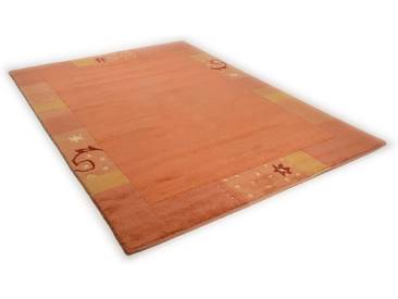 THEKO Teppich »Ganges 991«, rechteckig, Höhe 14 mm, von Hand geknüpft, braun, 14 mm, terra