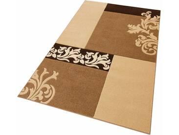 Home affaire Teppich »Jari«, rechteckig, Höhe 12 mm, braun, 12 mm, braun